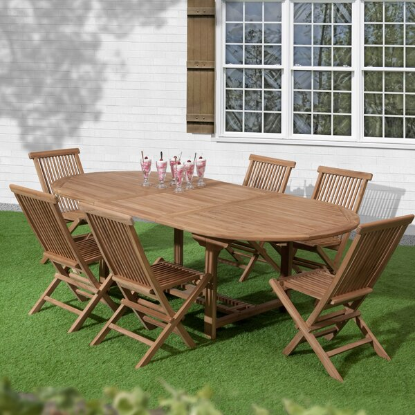 Reade 7 Piece Teak Dining Set by Loon Peak