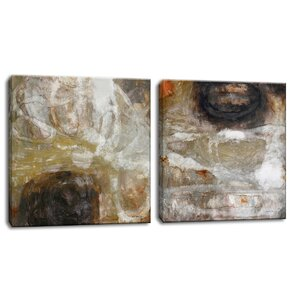 'Oxide I/II' by Norman Wyatt Jr. 2 Piece Painting Print on Wrapped Canvas Set by Ready2hangart