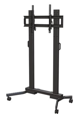 Tilting Universal Floor Stand Mount for Greater than 50 Flat Panel Screens by Crimson AV