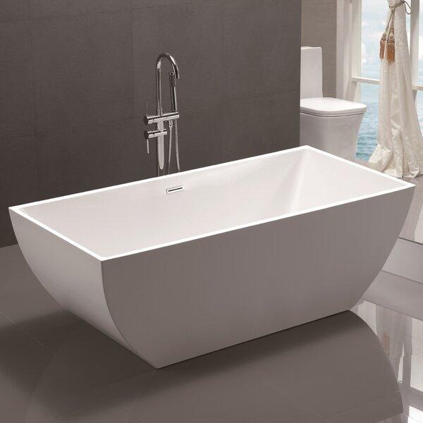 59 x 29.5 Freestanding Soaking Bathtub by Vanity A