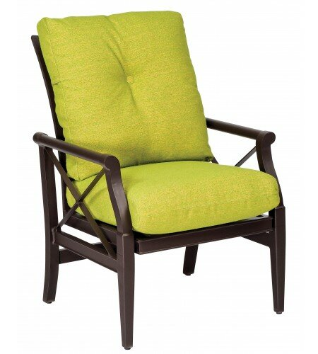Andover Rocking Patio Dining Chair with Cushion by Woodard