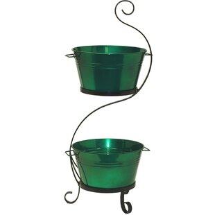 Patio Ice Bucket On Iron Stand   Wayfair