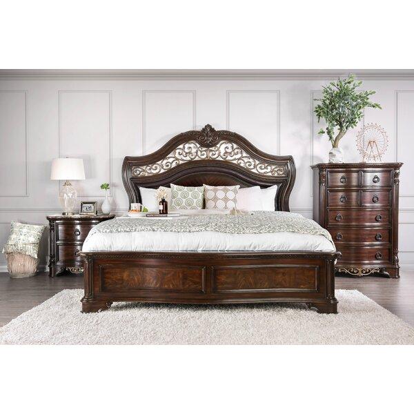 Caulfield Upholstered Panel Bed by Fleur De Lis Living