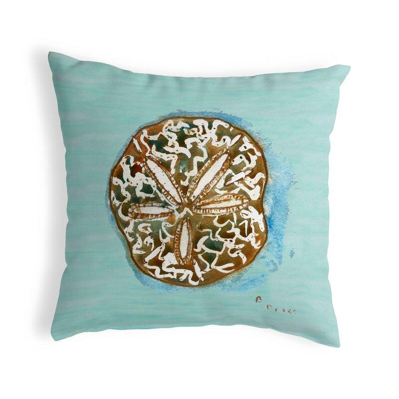 Highland Dunes Liesel Sand Dollar Indoor Outdoor Throw Pillow Wayfair