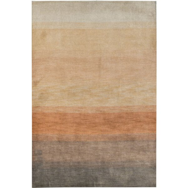 Gabbeh Hand-Knotted Wool Orange Area Rug by Bokara Rug Co., Inc.