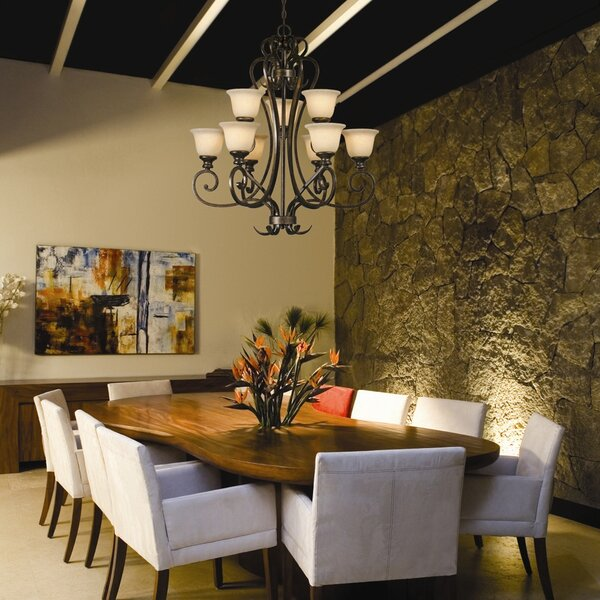 Cambridge 9-Light Shaded Chandelier by Wildon Home ®