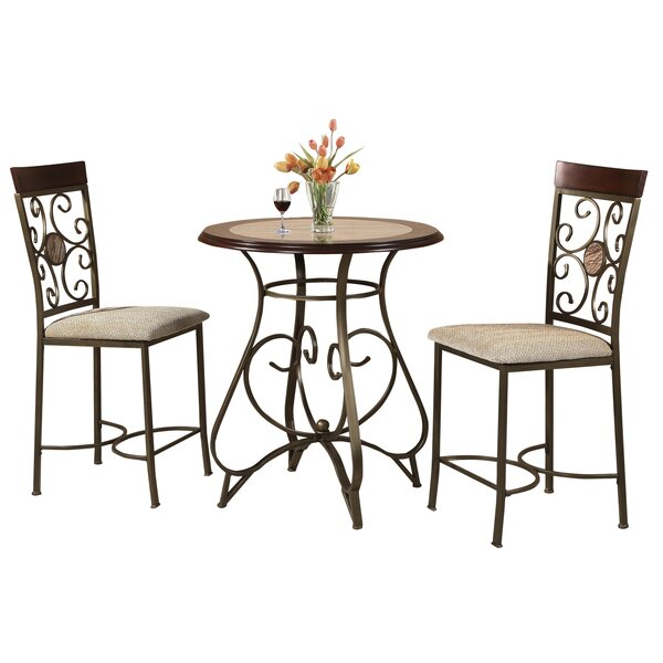 Armisen 3 Piece Counter Height Dining Set by Red Barrel Studio
