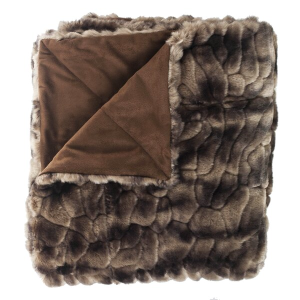 Caribou Faux Fur Throw by Woven Workz