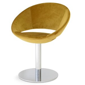 Crescent Round Upholstered Dining Chair sohoConcept