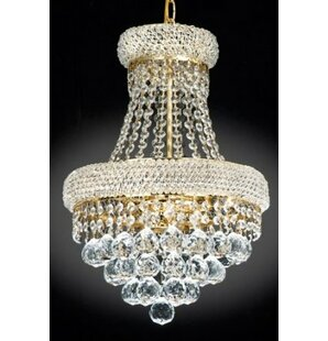 Top Reviews Lanza 3-Light Empire Chandelier By Rosdorf Park