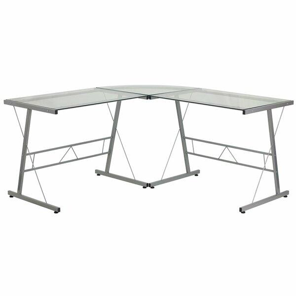 Duong Glass L-Shape Desk by Ebern Designs