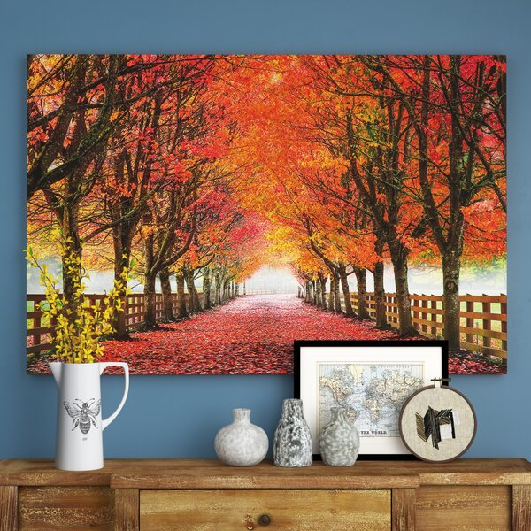North Bend Trees Photographic Print On Wrapped Canvas By August Grove.