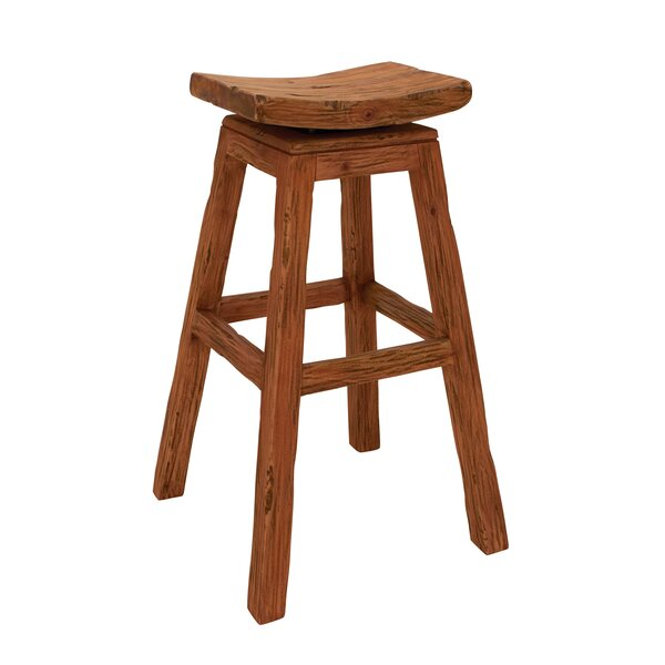 Wood Stool by Woodland Imports