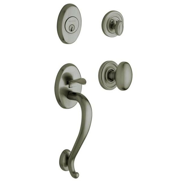 Logan Single Cylinder Handleset with Interior Egg Knob and Sectional Trim by Baldwin