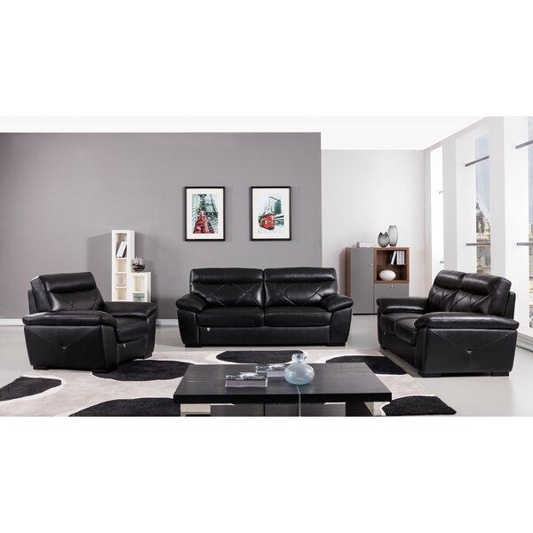 Italian Configurable 3 Piece Living Room Set by Winston Porter