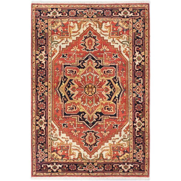 One-of-a-Kind Doerr Hand-Knotted Copper Area Rug by Isabelline