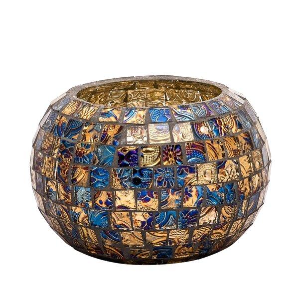 Mosaic Glass Votive Holder by Bloomsbury Market