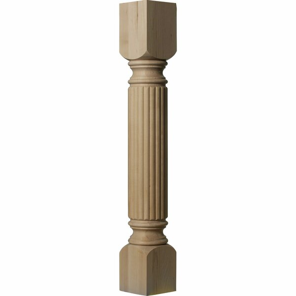 Raymond Reeded 35 1/2H x 5W x 5D Cabinet Column in Cherry by Ekena Millwork