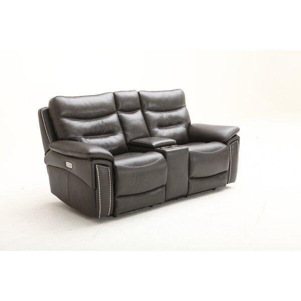 City Lights Leather Reclining Loveseat by Southern Motion