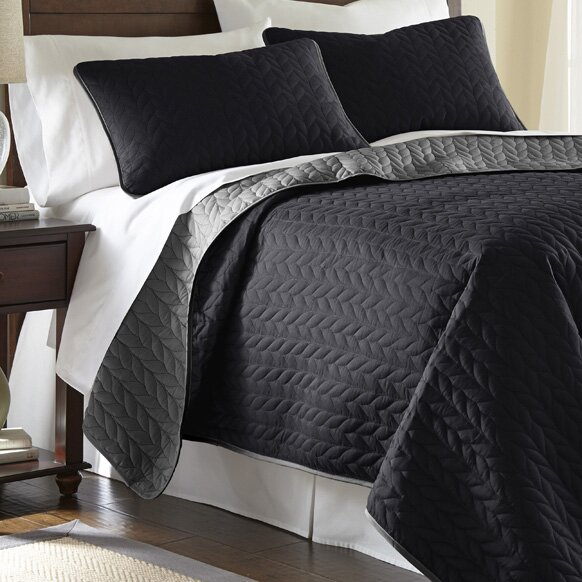 Stotts 3 Piece Reversible Coverlet Set By Andover Mills.