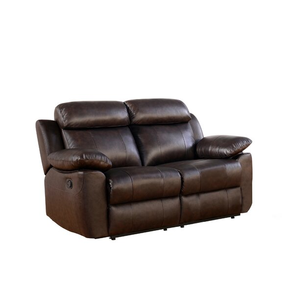 Bima Leather Reclining Loveseat by Red Barrel Studio