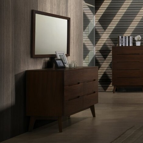 Drumnacole 6 Drawer Double Dresser with Mirror by Corrigan Studio