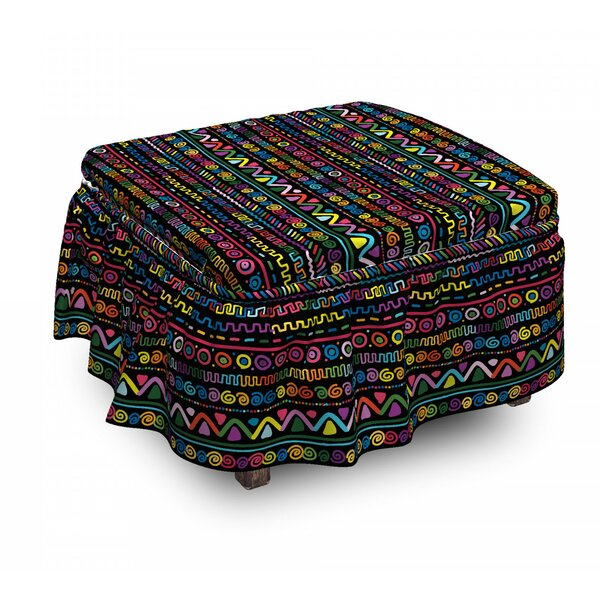 Hand Drawn Art Ottoman Slipcover (Set Of 2) By East Urban Home