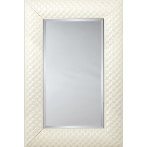 Mirror Style 81182 - White Quilted Cushion by Mirror Image Home