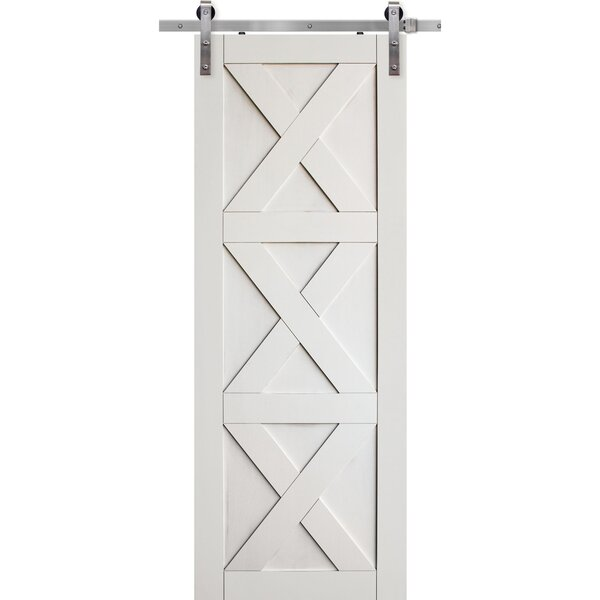 Triple X Solid Manufactured Wood Panelled Interior Barn Door by Barndoorz