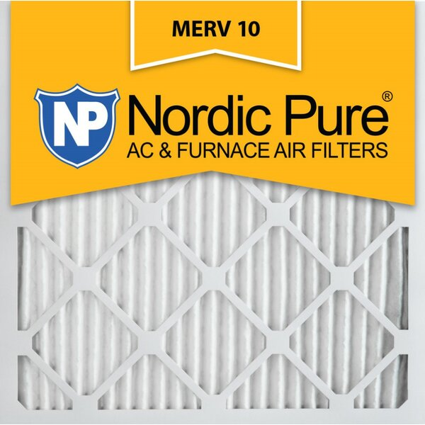 Merv 10 Pleated Air Conditioner/Furnace Filter (Set of 12) by Nordic Pure