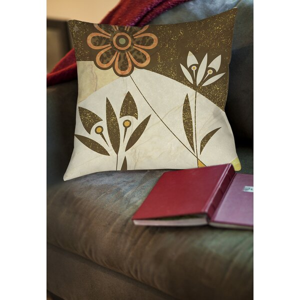 Graphic Garden Savannah Printed Throw Pillow by Manual Woodworkers & Weavers