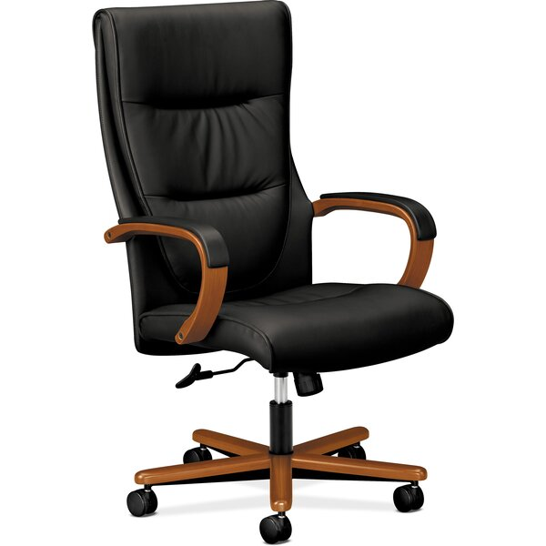 High-Back Leather Executive Chair by HON