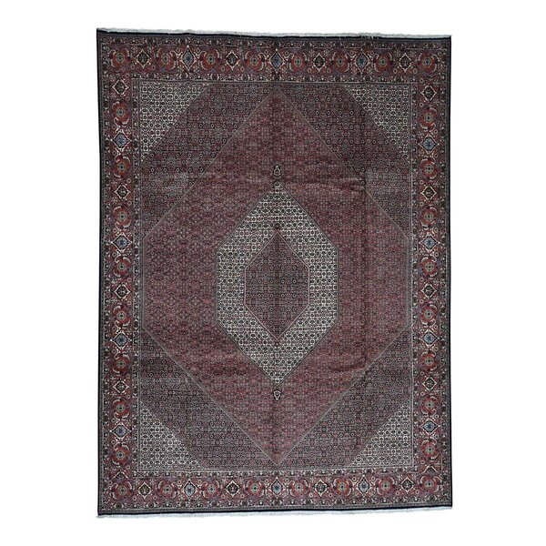 One-of-a-Kind Katherine Hand-Knotted Red/Brown 10' x 13'2 Wool Area Rug