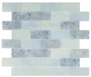Lakeview 14 x 16 Glass Mosaic Tile in St Croix Brick by Kellani