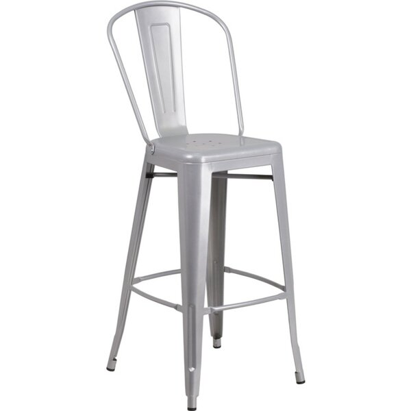 Ira Metal 30'' Patio Bar Stool by Williston Forge