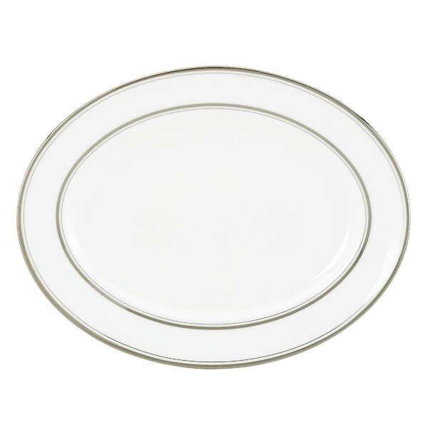 Library Lane Platinum 13 Oval Platter by kate spade new york