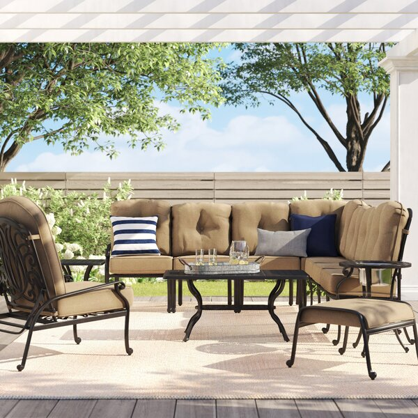 Lebanon 11 Piece Sectional Seating Group with Cushions by Three Posts Three Posts