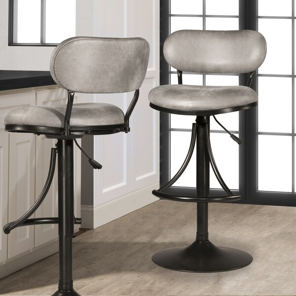 Bodden Adjustable Swivel Bar Stool by Ivy Bronx