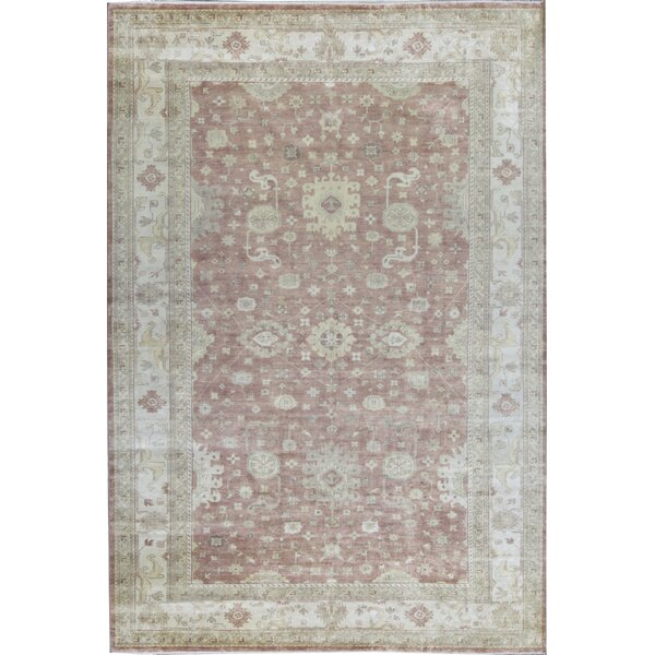 One-of-a-Kind Hand-Knotted Rust/Ivory 11'10 x 17'3 Wool Area Rug