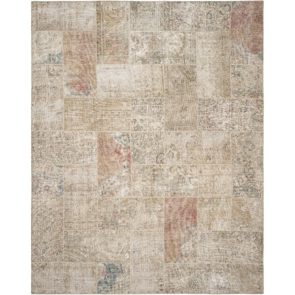 Brownington Hand-Knotted Wool Natural Area Rug by Bungalow Rose