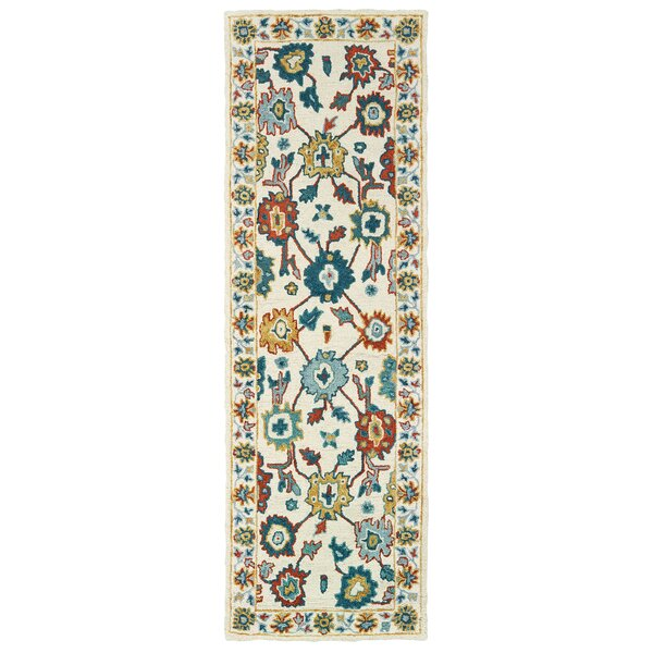 Jules Hand-Knotted Wool Ivory/Yellow/Green Rug