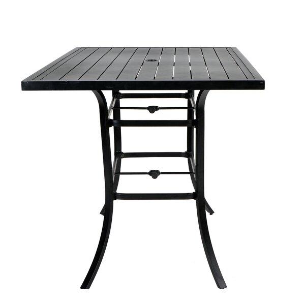 Hartman Metal Bar Table by Red Barrel Studio