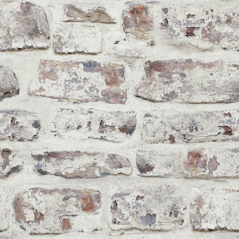 Arthouse Whitewashed Wall White 33 5 X 22 Quot Brick