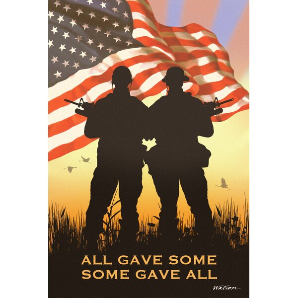 Some Gave All 2-Sided Garden flag by Toland Home Garden