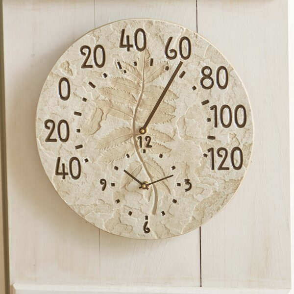 Fossil 14.5 Sumac Clock Thermometer by Whitehall Products