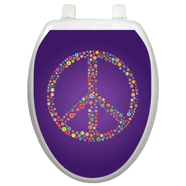 Youth Purple Peace Toilet Seat Decal by Toilet Tattoos