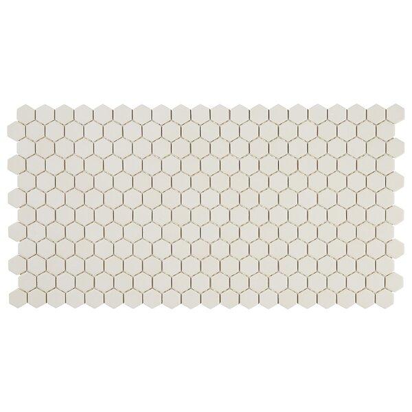 Dalton 12 x 24 Porcelain Mosaic Tile in Almond by Itona Tile