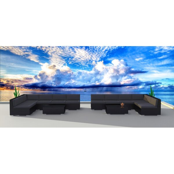 14 Piece Sectional Set with Cushions by Urban Furnishings