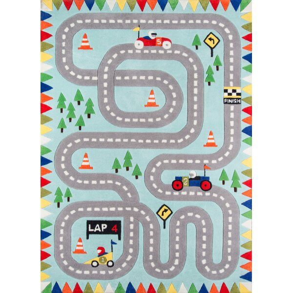 Bailey Hand-Tufted Blue Area Rug by Zoomie Kids