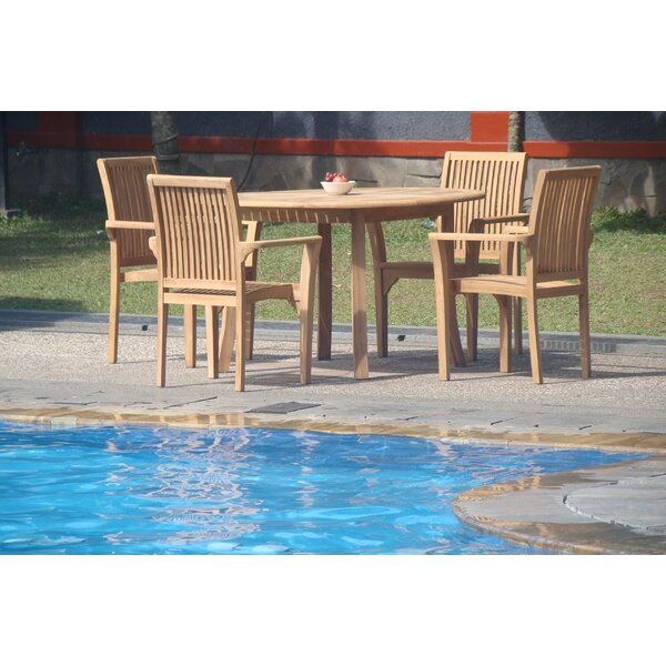 Massie 5 Piece Teak Dining Set By Rosecliff Heights by Rosecliff Heights Wonderful